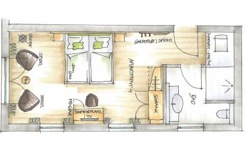 Wohlfühl-Doppelzimmer Refugium R4