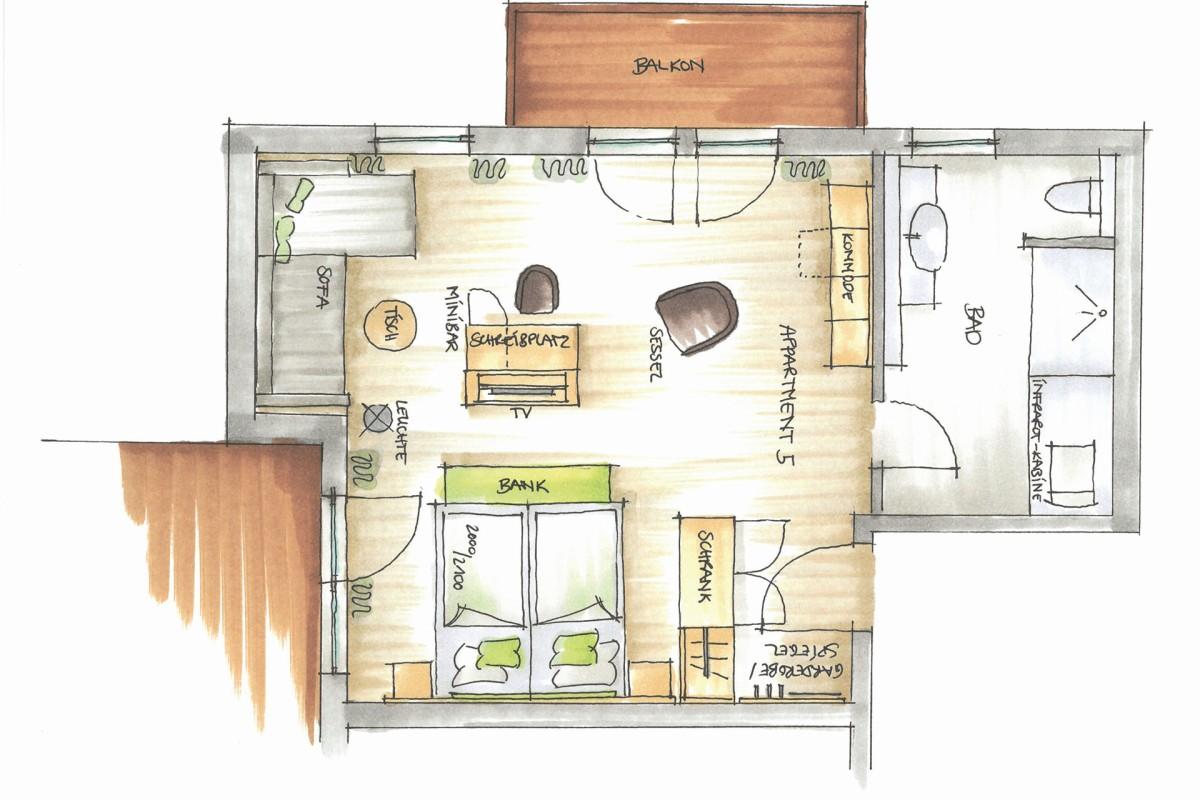 Wohlfühl-Suite Refugium R5
